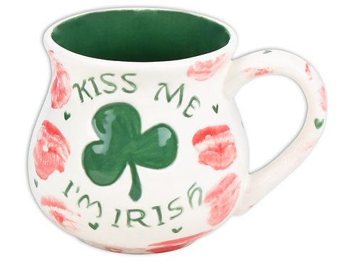 "Kiss me I'mIrish mug - 5¾"" Dia. x 4¼"" H (23 Ounces)"