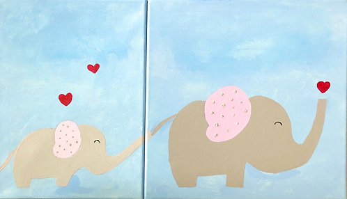 Mothers day canvas painting