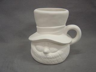 Snowman mug - 5 in. H