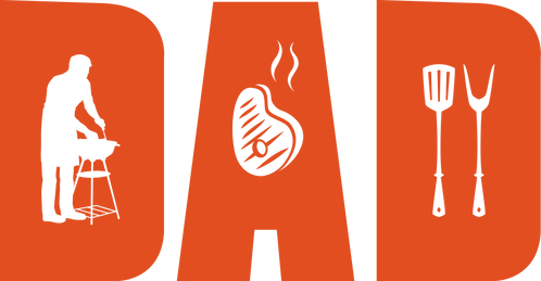 Dad BBQ Stencil