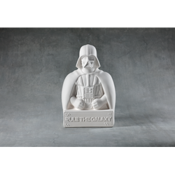 Darth vade bust bank - 6 in.L x 6 in.W x 9 in.H