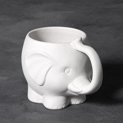 Elephant mug - 4 1/4 in.H x 5 3/4 in.W x 3 1/4 in.D