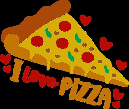 """""""I Love Pizza"""" Stencil"""