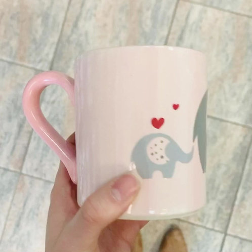 Mom & Baby Elephant Mug
