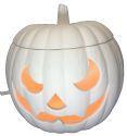 """Light up pumpkin - scary - 6"""" D"""