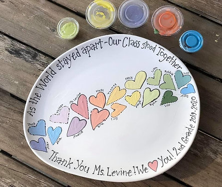 """""""As the world stayed apart, our class stood together."""" Plate"""