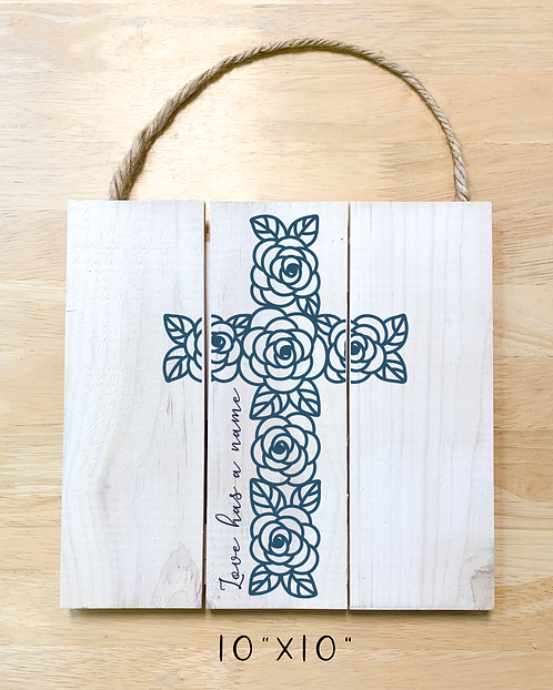 """""""Love has a name"""" Rose Cross (Board/Tote/T-shirt/Pillow)"""