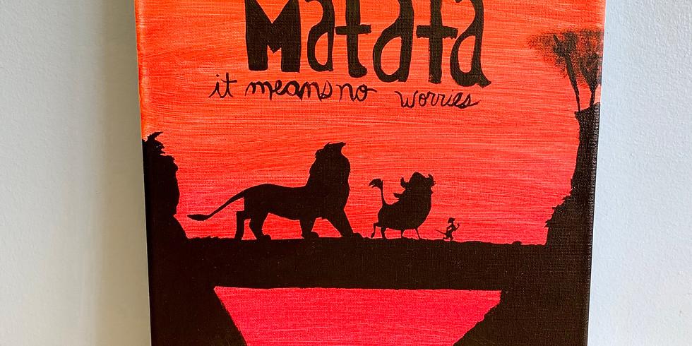 """Canvas Painting - Lion King """"Hakuna Matata"""" (1)"""