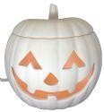 """Light up pumpkin - traditional face - 6""""D"""