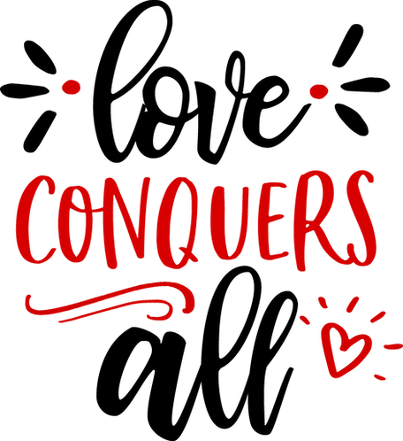 """""""Love Conquers All"""" Stencil"""