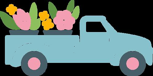 Truck Full of Flowers Stencil
