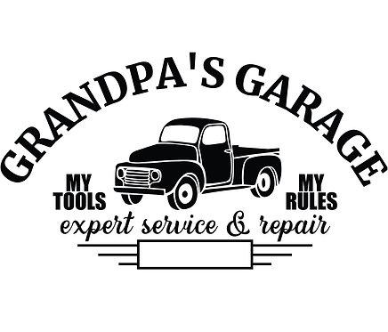"""""""Grandpa's Garage"""" Stencil"""