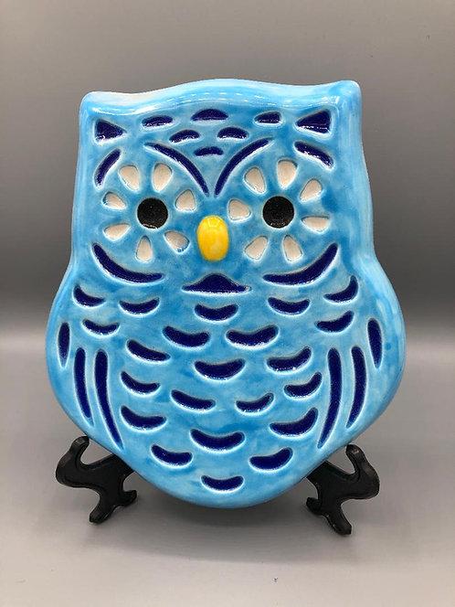 """Owl plaque - 6.5""""W 8.5""""H"""