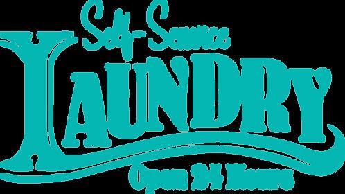 """""""Self-Service Laundry"""" Stencil"""