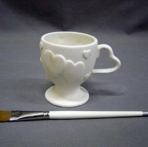 Heart mug - 3.5 in. H x 3 in. - PA