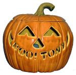 Personalized light up pumpkin - large - 9.25x9.25x8.25