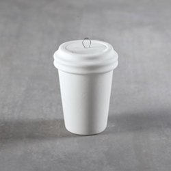 Coffee cup ornament - 1.9 in. x 1.9 in. x .25 in