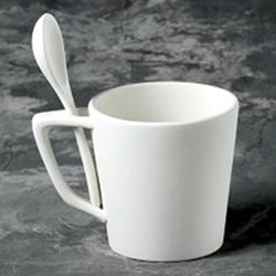 Snack mug with spoon - 6 in.H
