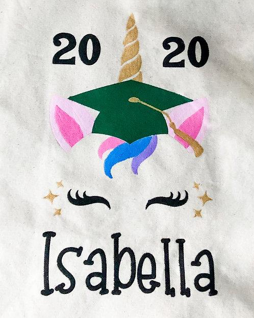 Unicorn Graduation Stencil