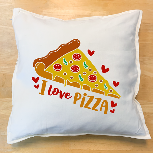 """I love pizza"" Pillow"