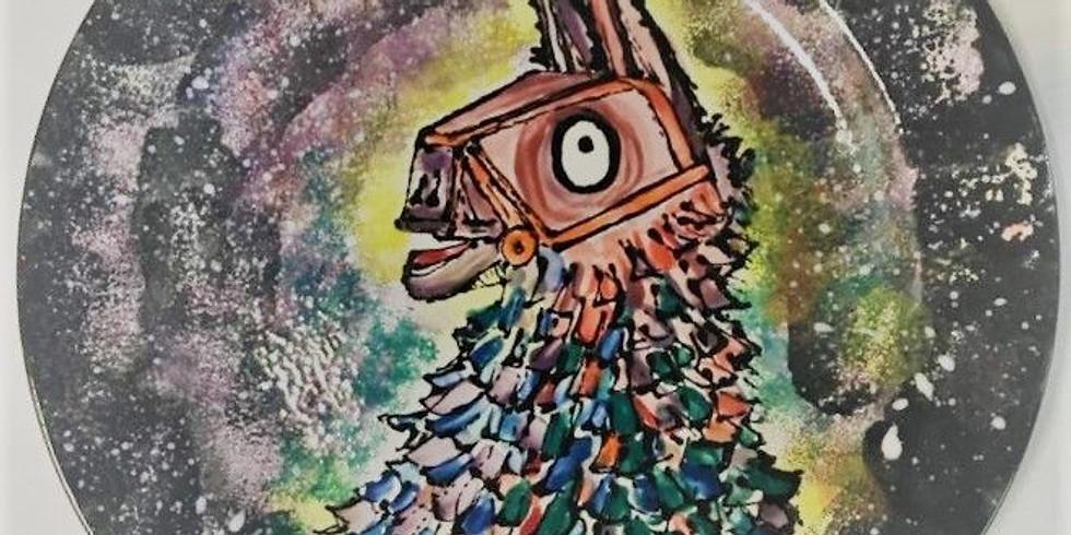 Fortnite Llama loot Pinata dinner plate