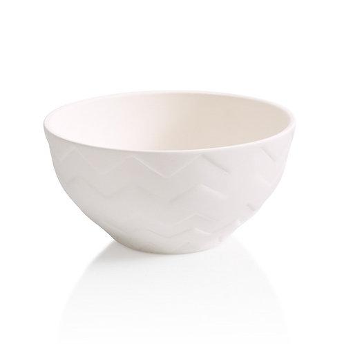 chevron bowl - 6D x 3H
