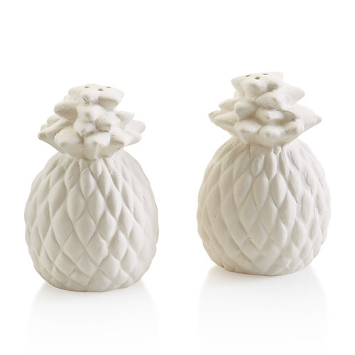 Pineapple salt and pepper shakers -  set of two 3H x 2D