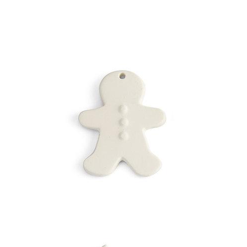 Flat gingerbread boy ornament - 3.25L x 2.5W