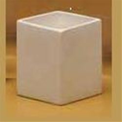 Square flower pot - 4 1/4 in. H x 3 3/4 in. W