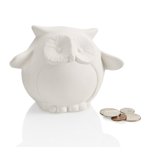 Pudgy owl bank - 3.5H x 5.25W