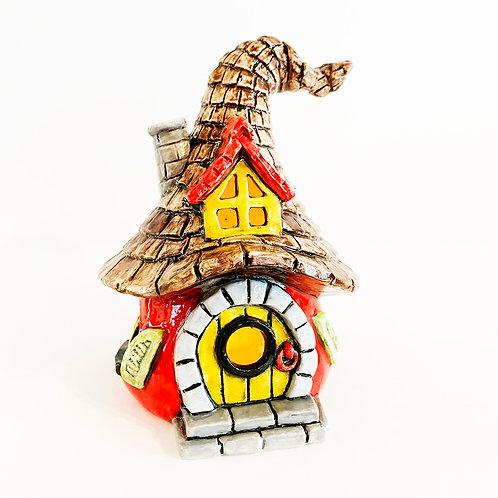 Gnome home lantern - 6.5H X 5W