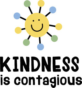 """Kindness is Contagious"" Stencil"