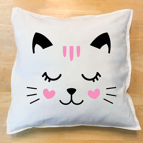 Cat Face Pillow