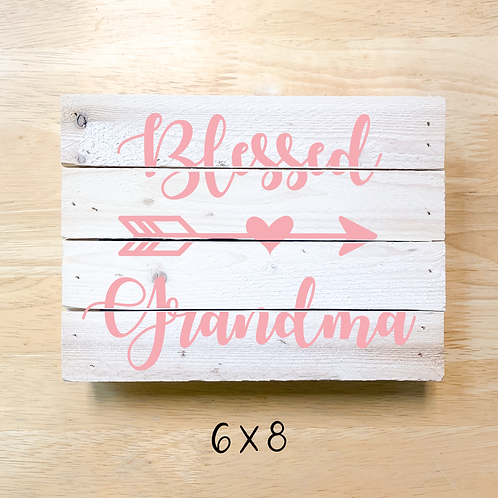 Blessed Grandma (Pillow/Tote/Board/Card)