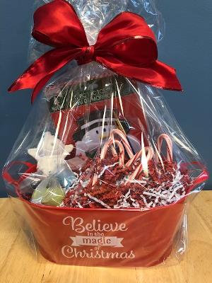 Gift basket, Pottery piece not included or craft kit not included