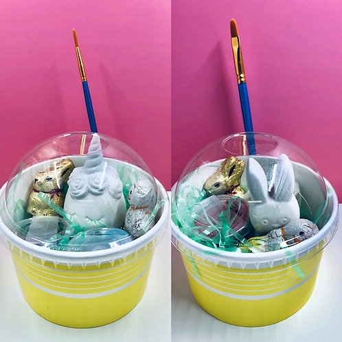 Eggicorn Easter sundae art kit