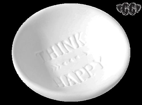 "Think happy dish - 3 1/2"" Dia. x 1"" H"