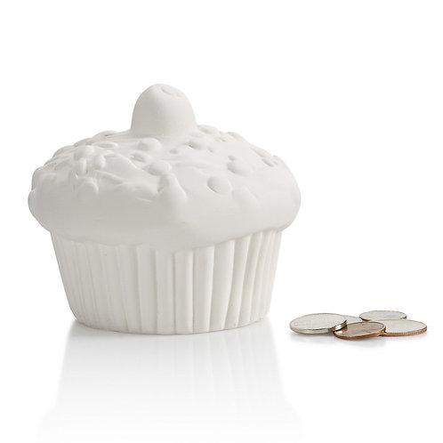 Cupcake penny bank - 4D x 3.25H - PD