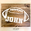 Thumbnail: Football Monogram Design (Pillow/Tote/Pouch/Board)