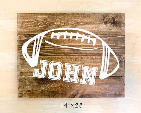 Football Monogram Design (Pillow/Tote/Pouch/Board)
