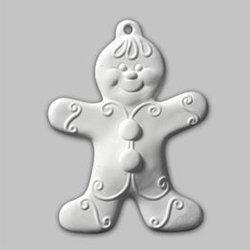 Gingerbread boy ornament - 4.5 in. H x 3.5 in. W