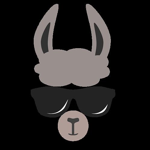 Llama w/Sun Glasses Stencil