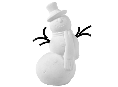 "Willy the chilly snowman - 3 ¼"" Dia. x 6"" H"