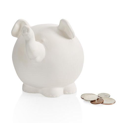 Pudgy elephant bank - 4.5H x 3.75W