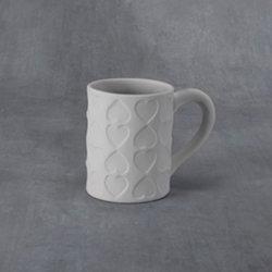 Imprinted hearts mug - 5.25 x 3.50 x 4.25