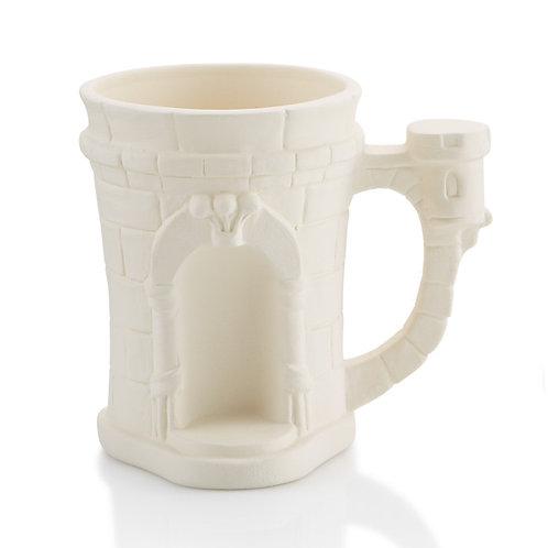 Castle mug - 3.25D x 4.5H 12oz.