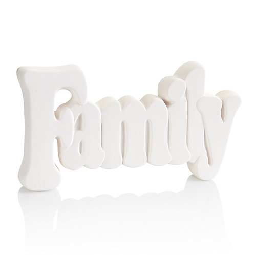 Family word plaque - large - 10.5L x 5.5H