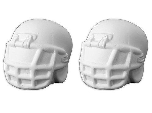 """Football helmet salt and pepper shakers - 3"""" L x 2¼"""" W x 2½"""" H"""