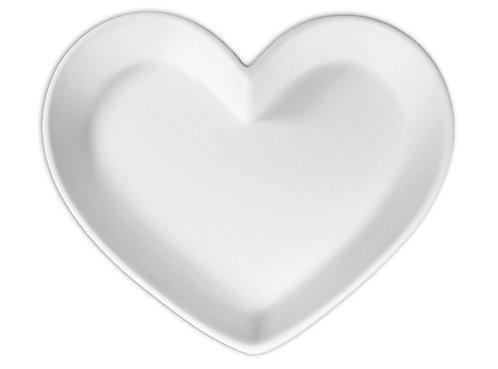 """Heart dish medium - 8 ½"""" L x 7 ¼"""" W x 1"""" H"""