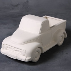 Vintage truck container - 5.75 in. H x 6.5 in. W. x 13.5 in. dia.